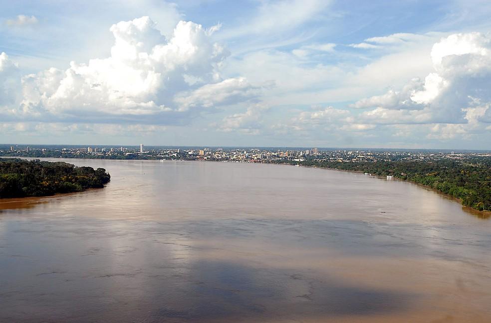 Rio Madeira em Porto Velho — Foto: Reprodução