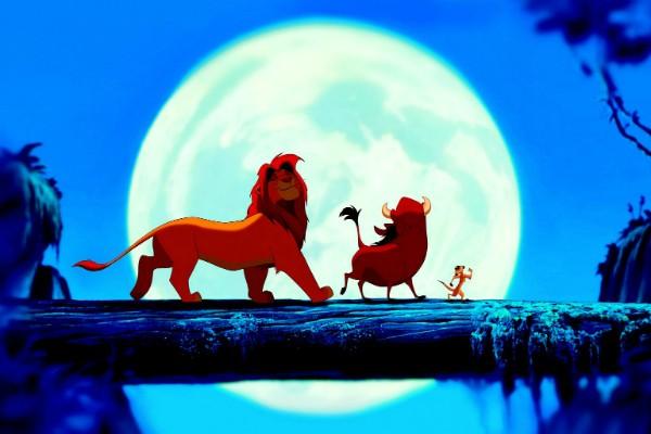 Simba, Pumba e Timão em O Rei Leão (1994) (Foto: Reprodução)