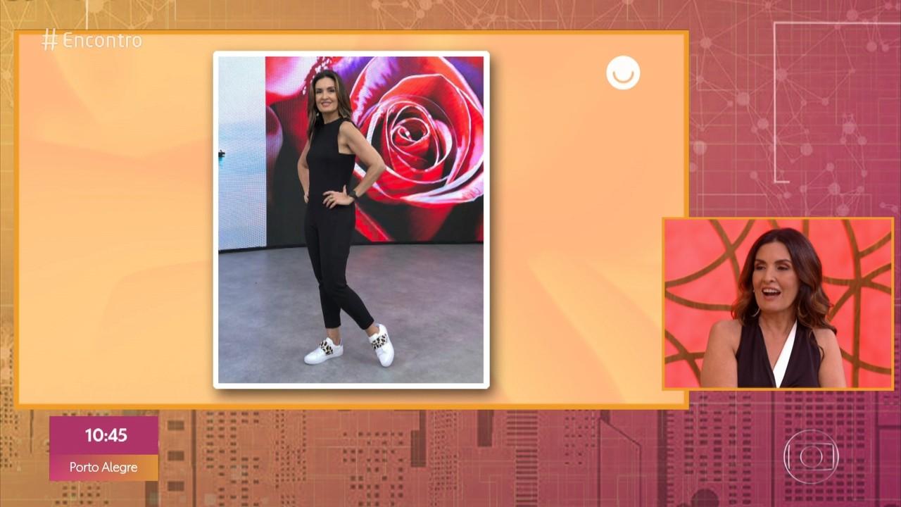 Fátima Bernardes comenta seu estilo para sapatos