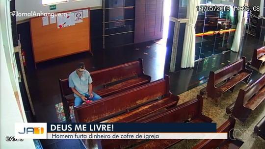 Homem é preso suspeito de furtar R$ 300 da catedral de Itumbiara