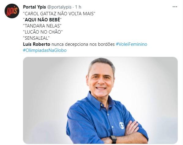 Reação à narração de Luis Roberto no vôlei  (Foto: Reprodução)