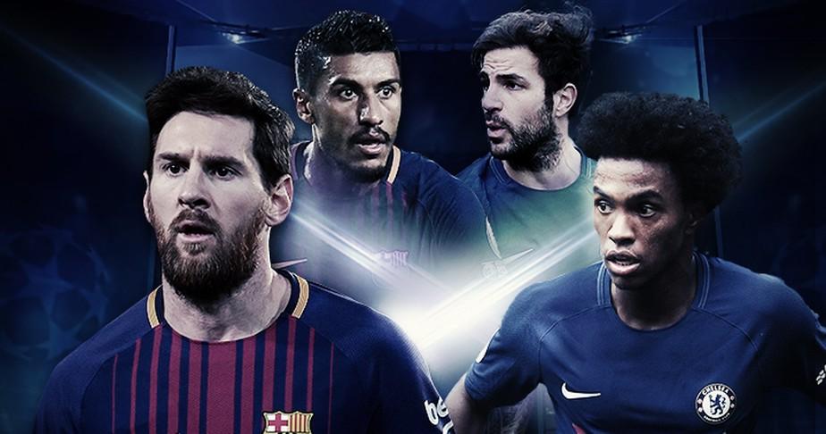 Em vantagem, Barcelona duela por vaga contra o Chelsea e a boa fase de Willian