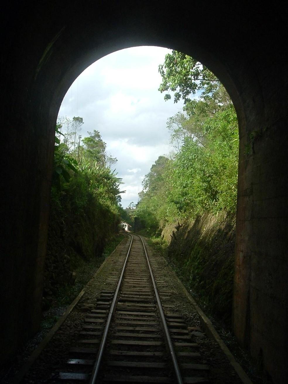 Túnel do Trem da Mantiqueira (Foto: Associação Brasileira de Preservação Ferroviária (ABPF))