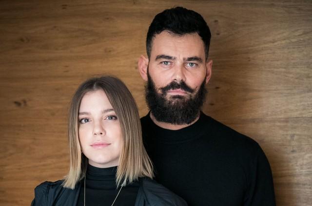 Alice Wegmann e Carmo Dalla Vecchia: Dalila e Paul em 'Órfãos da terra' (Foto: Raquel Cunha/TV Globo)