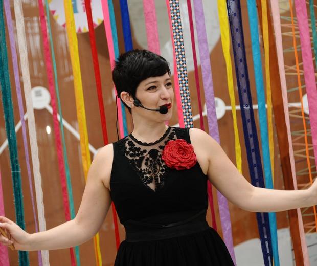 Kiara Terra, contadora de história, se apresenta no Festival Crescer 2018 (Foto: Sylvia Gosztonyi)