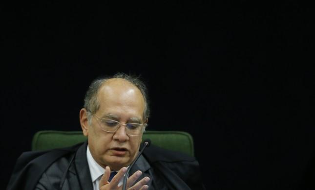 A Segunda Turma do Supremo Tribunal Federal (STF) julga dois pedidos de liberdade do ex-presidente Luiz Inácio Lula da Silva. Na foto, o ministro Gilmar Mendes