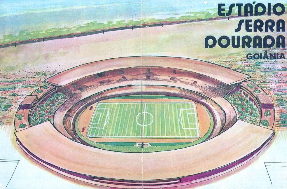 Convide da inauguração do estádio Serra Dourada, em 1975 — Foto: O Popular