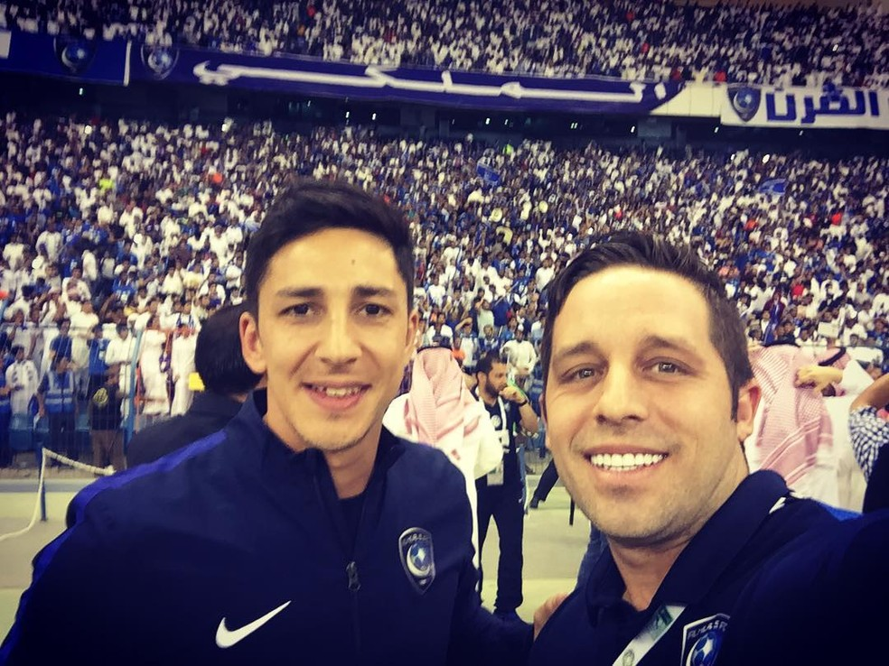 Damián e Juan no Al Hilal — Foto: Reprodução