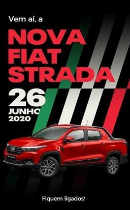 Save the date Fiat Strada (Foto: Divulgação)
