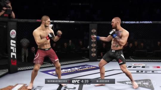 EA Sports UFC 3: simulação da luta entre Khabib X Connor pelo UFC 229