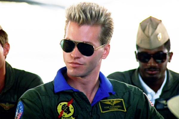 Val Kilmer em cena de Top Gun (Foto: Reprodução)