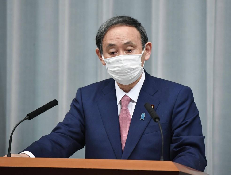Yoshihide Suga, primeiro-ministro do Japão — Foto: Kyodo
