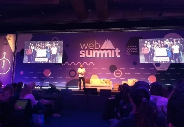 Christian Kroll, CEO e fundador da Ecosia, durante o Web Summit 2018 (Foto: Época Negócios)