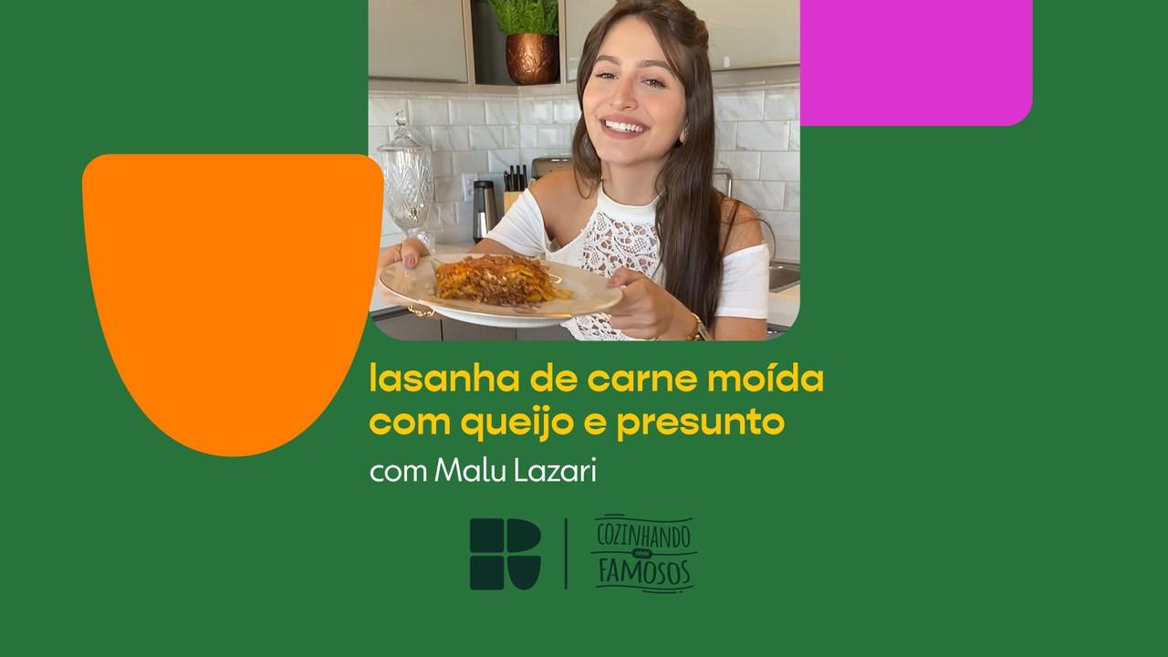 Malu Lazari ensina a fazer Lasanha de Carne Moída com Queijo e Presunto
