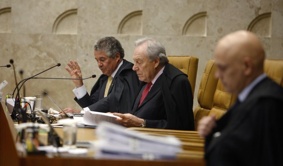 O ministro Ricardo Lewandowski durante sessão do STF — Foto: Rosinei Coutinho / STF
