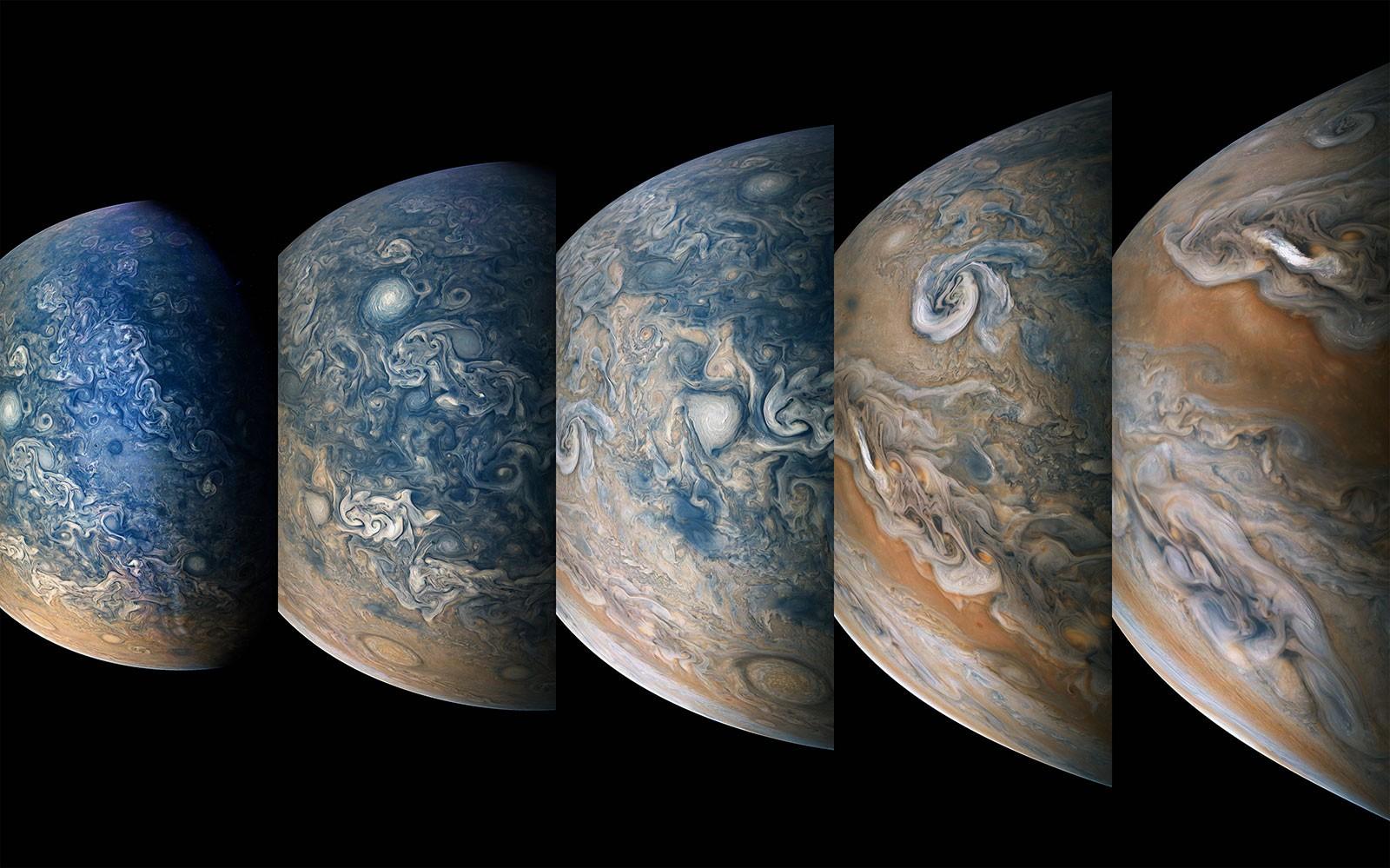 Imagens da sonda Juno revelam detalhes do hemisfério norte de Júpiter (Foto: NASA/JPL-Caltech/SwRI/MSSS/Gerald Eichstäd/Seán Doran)