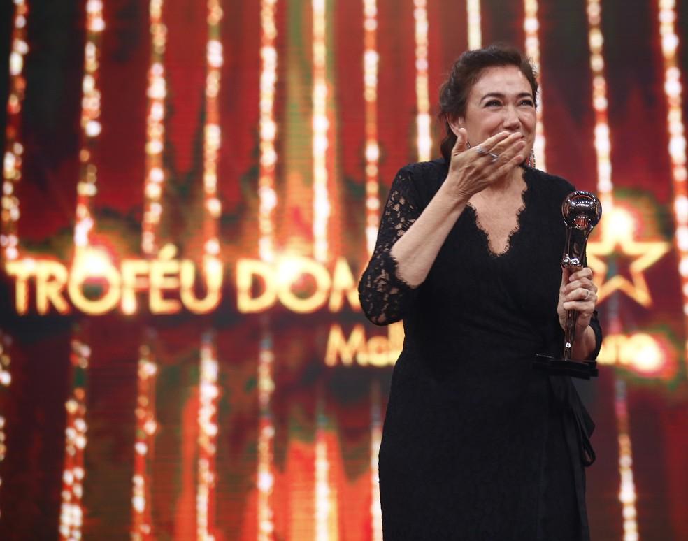 Lilia Cabral é uma das vencedoras do 'Troféu Domingão' (Foto: Artur Meninea / Gshow)