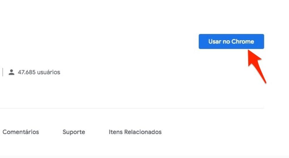 Ação para preparar o download da extensão WA Web Plus no Chrome — Foto: Reprodução/Marvin Costa