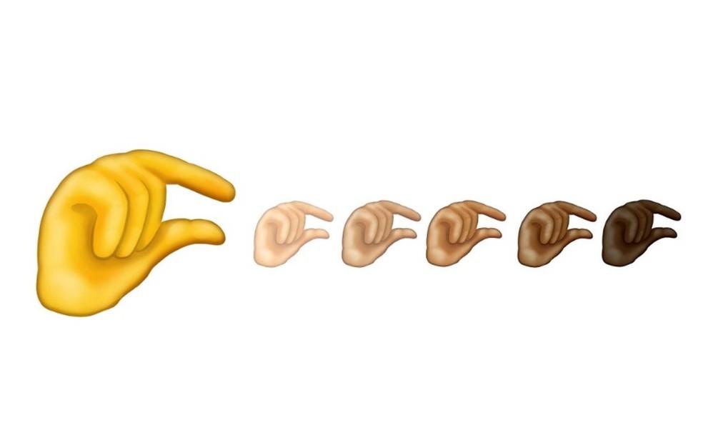 """Emoji """"Pinching Hand"""" ganhou duplo sentido nas redes sociais e está sendo associado a coisas """"mixurucas"""" — Foto: Reprodução/Emojipedia"""