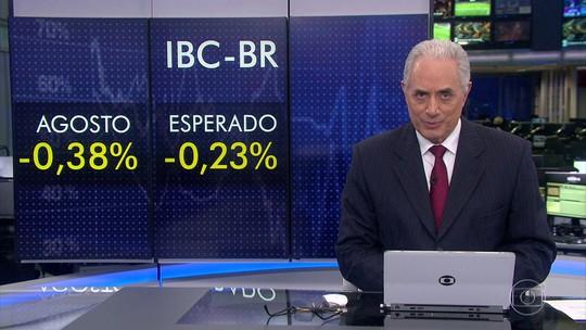 Economia brasileira encolhe 0,38% em agosto