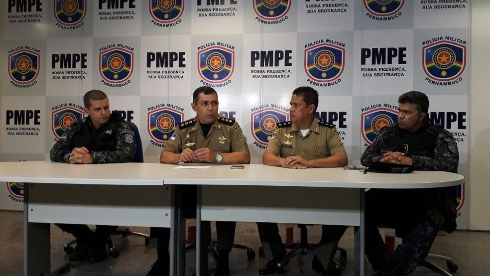 PM anuncia aumento de 118% no policiamento para Clássico entre Sport e Santa Cruz (Foto: Marina Meireles/G1)
