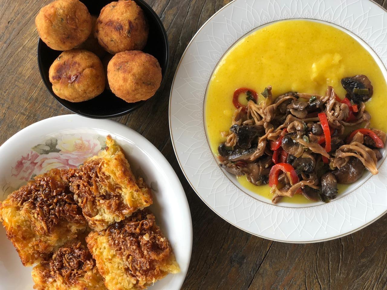 Aprenda três receitas surpreendentes com mandioca: bolinho, bobó vegano e cocada