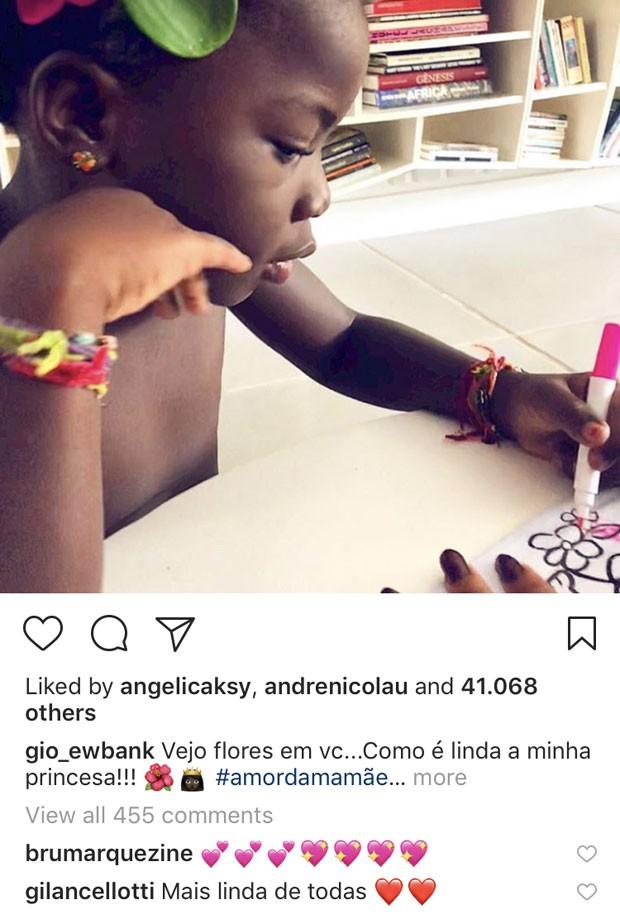 Titi: elogios das tias corujas (Foto: Reprodução Instagram)