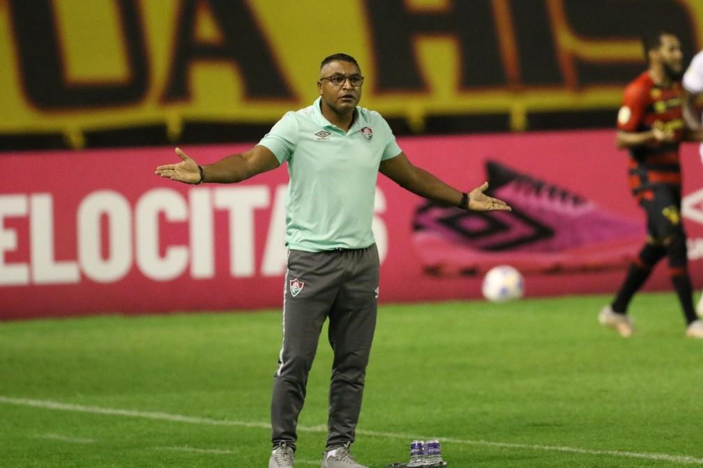 Roger em Sport x Fluminense pela Série A — Foto: Aldo Carneiro / Pernambuco Press