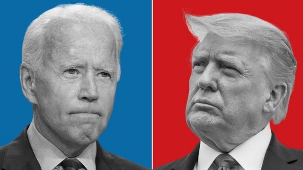 Um democrata ou um republicano ocupará a Casa Branca até 2024 — Foto: BBC