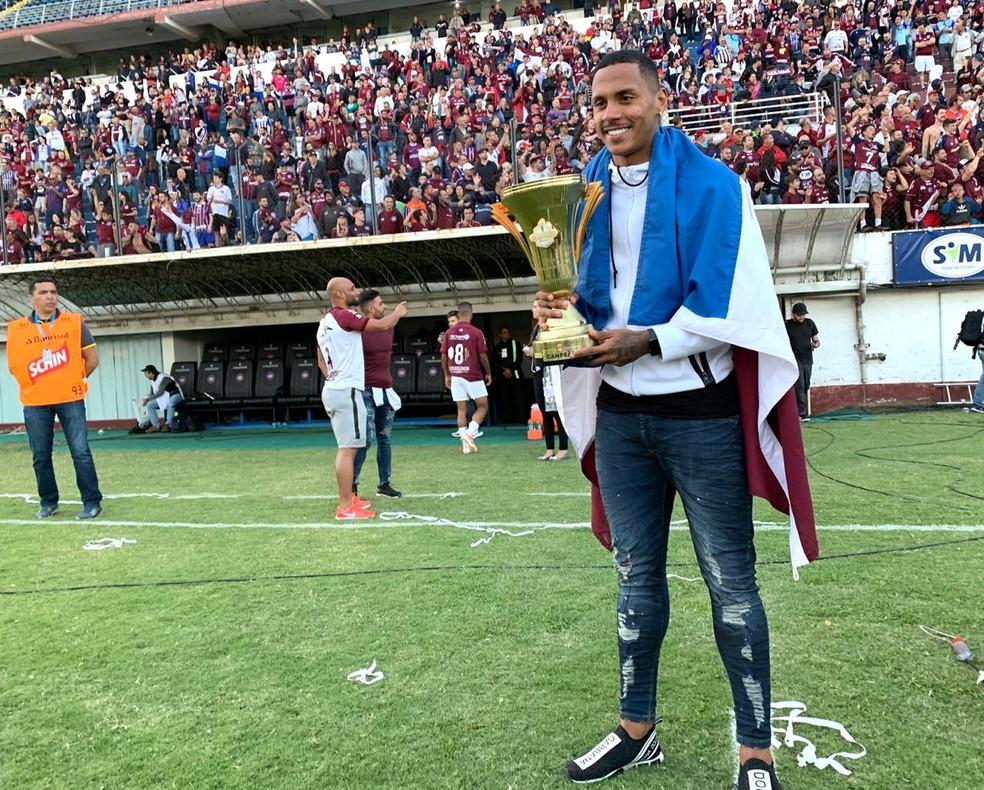 Da Silva venceu o primeiro turno do Gauchão pelo Caxias — Foto: Lucas Bubols/GloboEsporte.com
