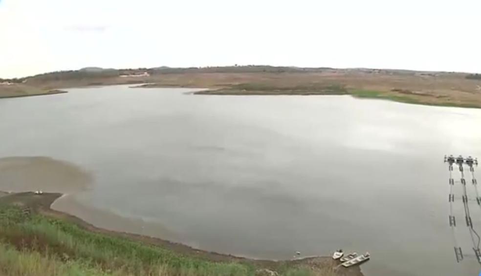 Açude de Boqueirão atingiu 10% da capacidade total de água com ajuda da tranposição e chuvas (Foto: Reprodução/TV Paraíba)