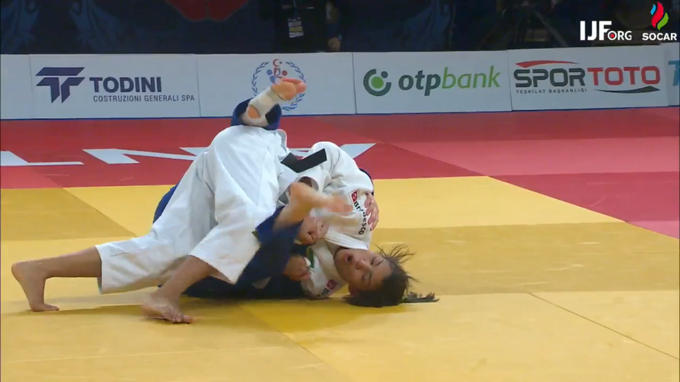 Sarah Menezes vence por ippon rival do Israel e sobe ao pódio no GP da Turquia (Foto: Reprodução/FIJ)