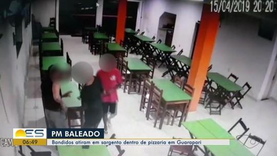 Sargento da PM é baleado em assalto a pizzaria em Guarapari, ES