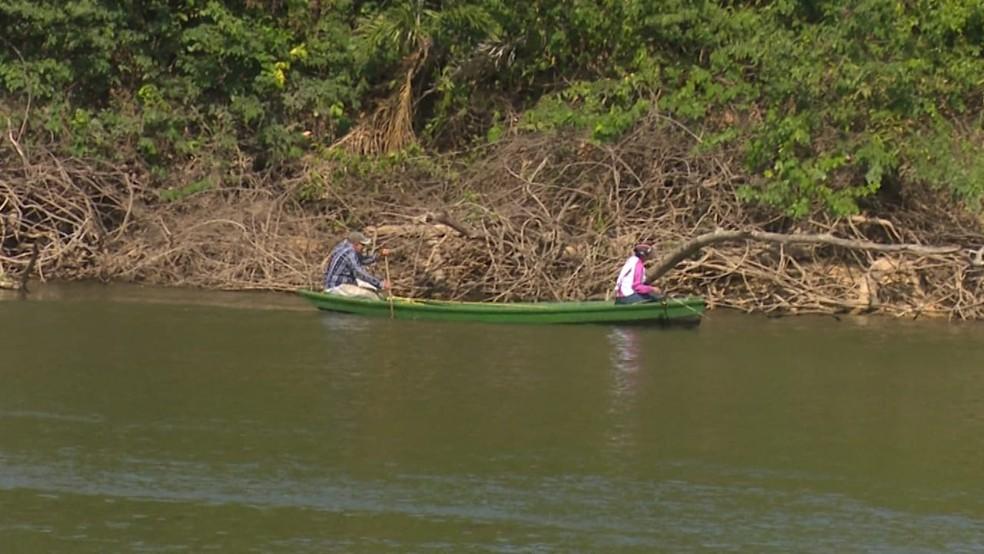 Pescadores sofrem com baixa de pescado por conta da seca em Ji-Paraná. (Foto: Gedeon Miranda/G1)