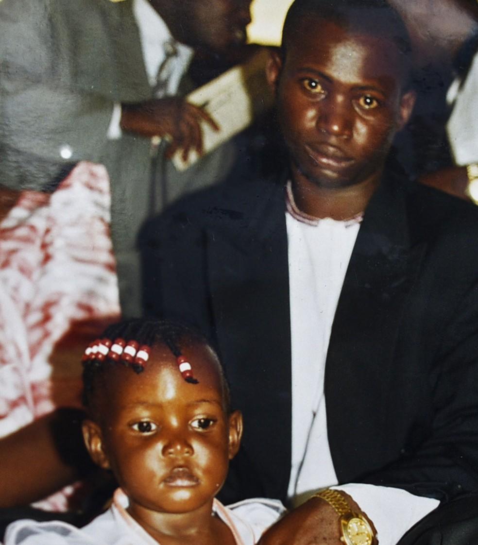 Pai da filha de Kigula, Constantine Sseremba foi assassinado em 2000 (Foto: Arquivo pessoal)