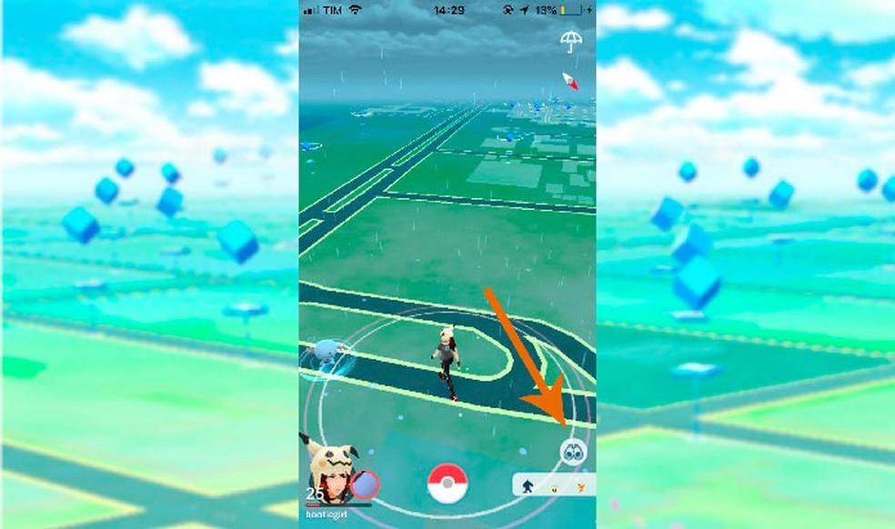 Acesse a aba de pesquisas no ícone do binóculo em Pokémon GO (Foto: Reprodução/Tais Carvalho)