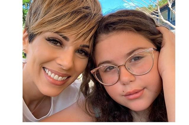 Ana Furtado e a filha, Isabella (Foto: Reprodução)
