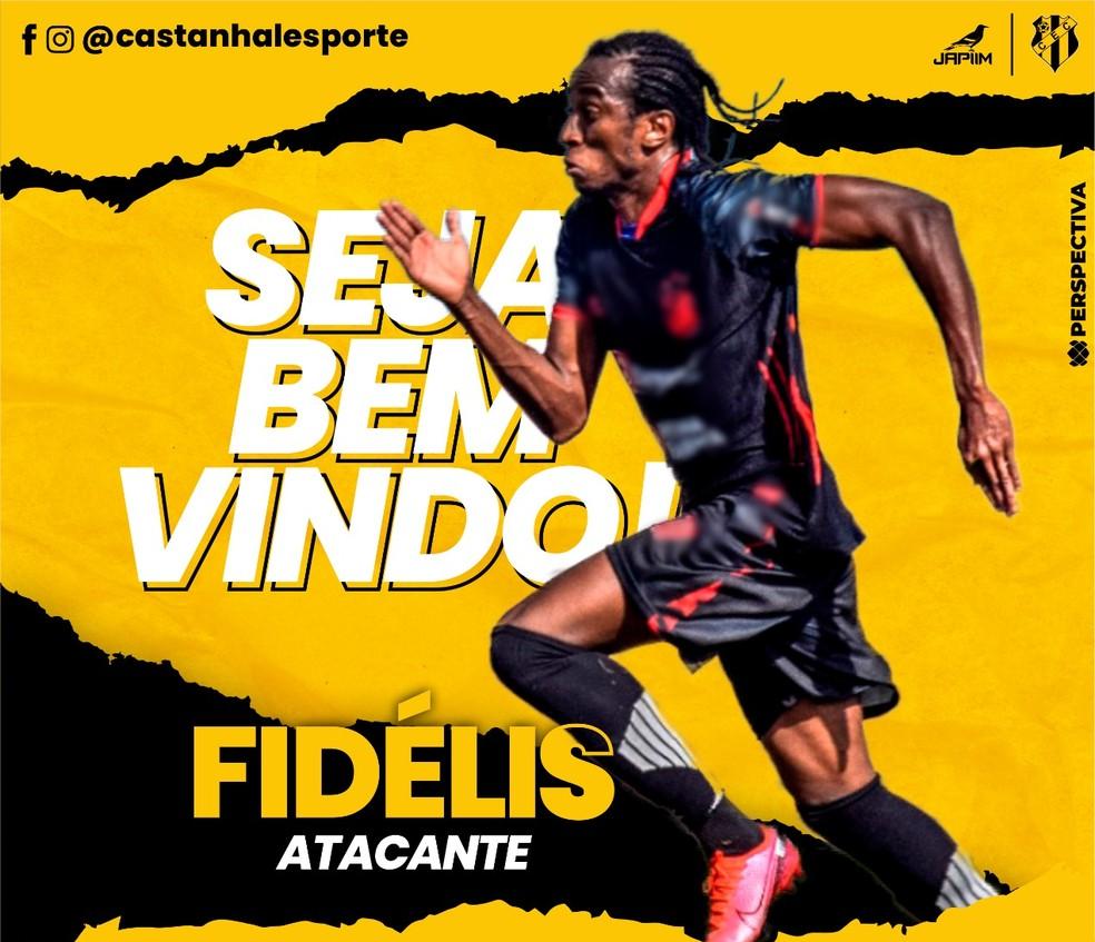 Fidelis trocará o Bragantino-PA pelo Castanhal em 2021 — Foto: Divulgação