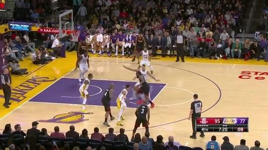 Harden brilha de novo, Rockets superam Lakers e emplacam sétima vitória seguida