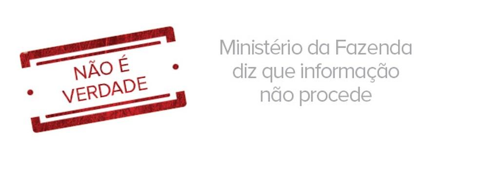 Ministério da Fazenda diz que congelamento de poupança não procede  (Foto: Arte/G1)