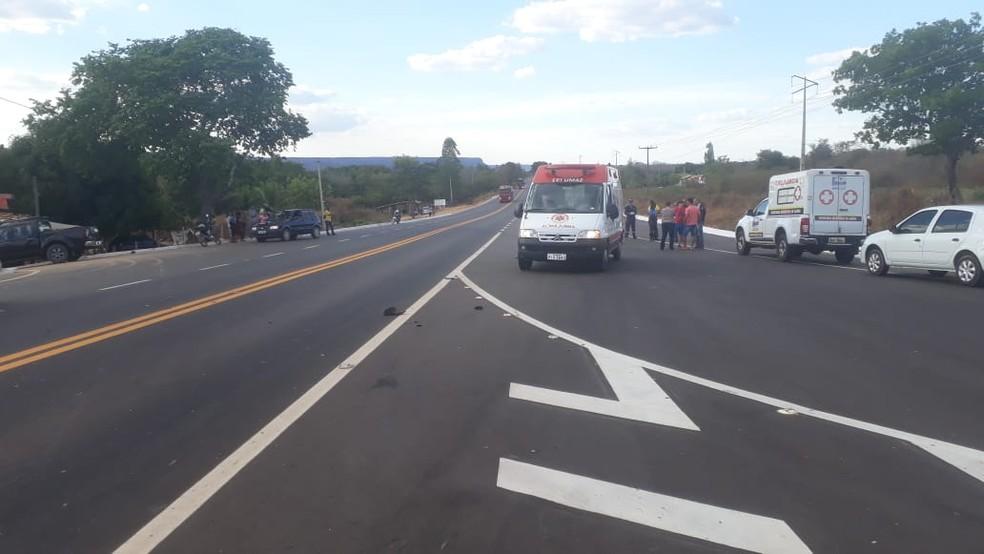 Samu foi acionado, mas vítima morreu no local (Foto: Divulgação/Polícia Civil)