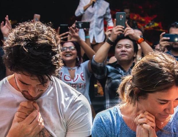 Resultado de imagem para Alexandre Pato e Rebeca Abravanel batismo