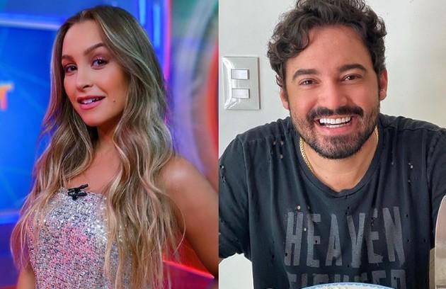 Carla Diaz trocou beijos com o cantor Fernando Zor num camarota na Sapucaí no carnaval de 2019. Atualmente, ele namora a também cantora Maiara (Foto: Reprodução)