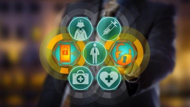 Há dúvidas sobre a segurança dos dados de saúde obtidos por meio dos aplicativos de saúde (Foto: Getty Images via BBC)