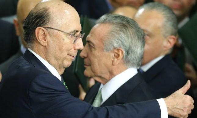 Henrique Meirelles, ministro da Fazenda, e Michel Temer, presidente da República (Foto: Estadão)