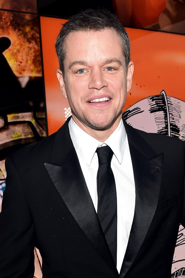Matt Damon: a gravata é a chave para quebrar a formalidade do smoking (Foto: Getty Images)