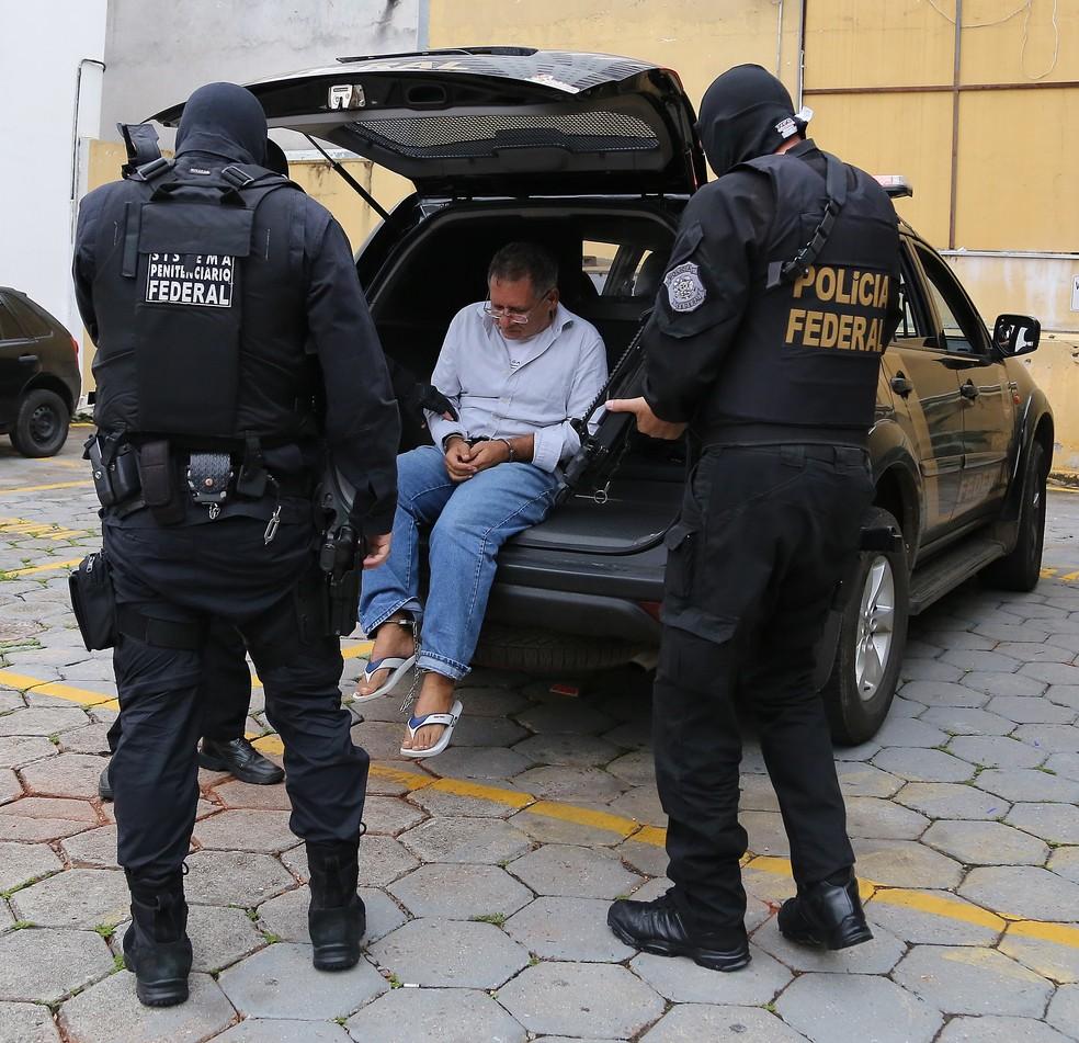 Ex-gerente da Petrobras José Antônio de Jesus, preso na 47ª fase da Lava Jato (Foto: Giuliano Gomes/PR Press )