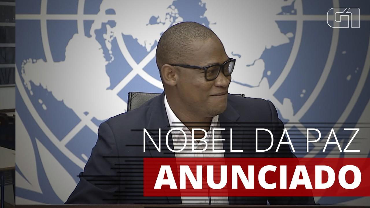 Porta-voz do Programa Mundial de Alimentos descobre o resultado do Nobel da Paz em reunião