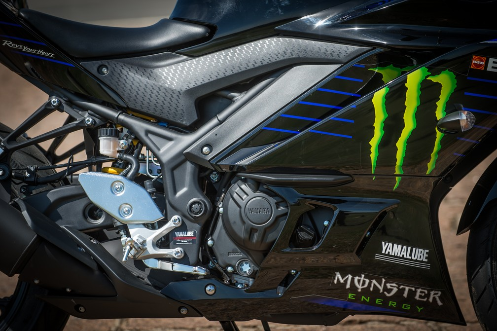 Yamaha YZF-R3 2020 kept the same engine of the previous model - Photo: Disclosure