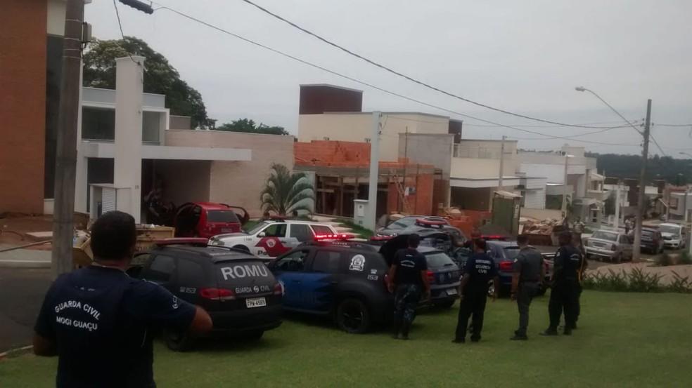 Trio foi preso após furto a residência em Mogi Guaçu (SP) — Foto: Guarda Municipal de Mogi Guaçu